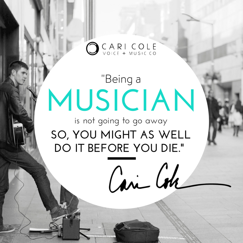 MondayMotivation CariCole Quote 4.11.16 Going Pro: 6 Essential Steps of Artist Development for All Musicians
